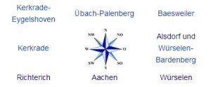 Einsatzgebiete Schlüsseldienst Aachen